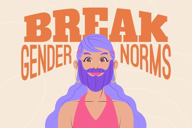 Concept de mouvement non sexiste