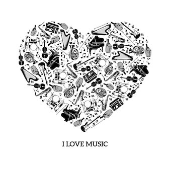 Concept de musique d'amour