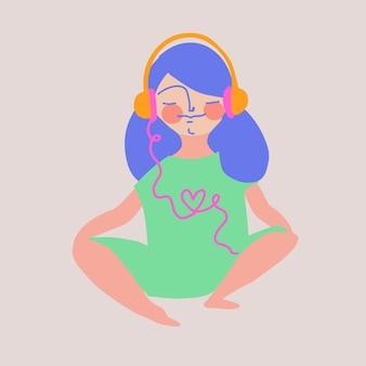 Concept de musique apaisante de guérison binaurale de méditation