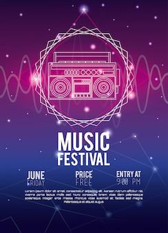 Concept de musique flyer festival techno