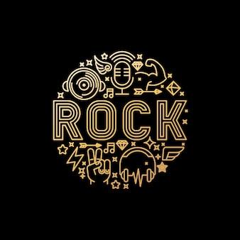 Concept de musique rock vecteur