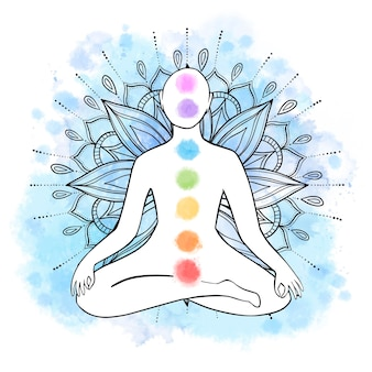 Concept mystique des chakras