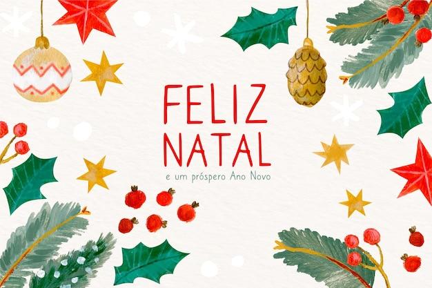 Concept natal feliz dessiné à la main