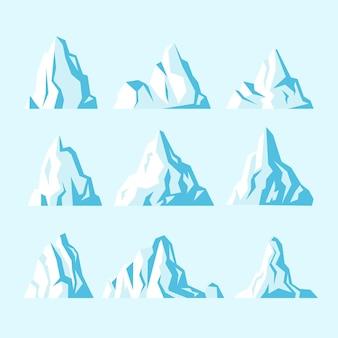 Concept de nature collection iceberg