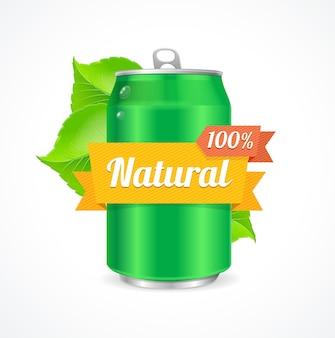 Concept naturel de canette en aluminium. préoccupation concernant l'environnement.
