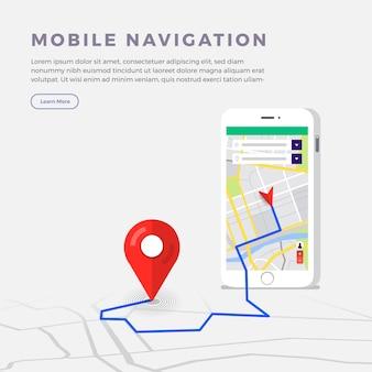 Concept de navigateur de localisation