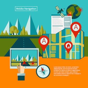 Concept de navigation gps