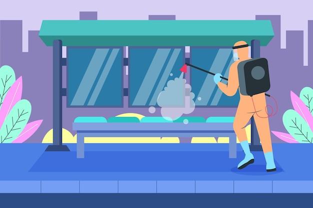 Concept de nettoyage des travailleurs