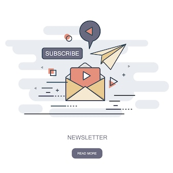 Concept de newsletter