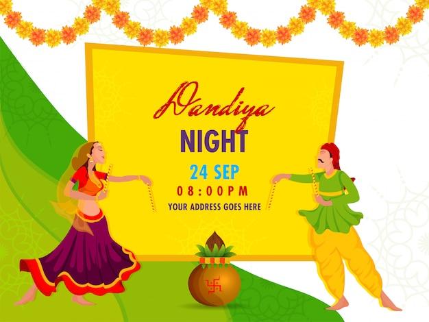 Concept de nuit de dandiya.