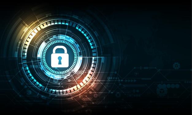 Concept numérique de sécurité abstraite sur fond de technologie