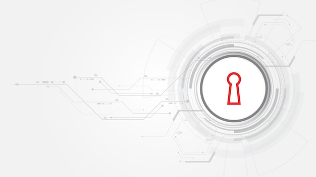 Concept numérique de sécurité de cadenas le fond de technologie abstrait protège l'innovation de système