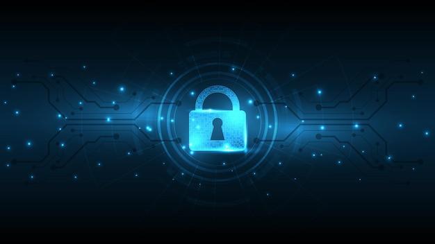 Concept numérique de sécurité de cadenas fond de technologie abstraite protéger l'illustration vectorielle de l'innovation du système