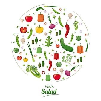 Concept de nutrition saine de salade fraîche