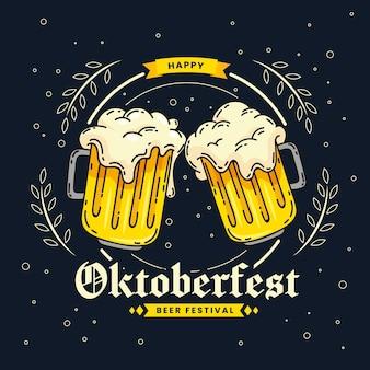 Concept oktoberfest dessiné à la main
