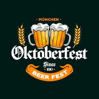 Concept d'oktoberfest dessiné à la main
