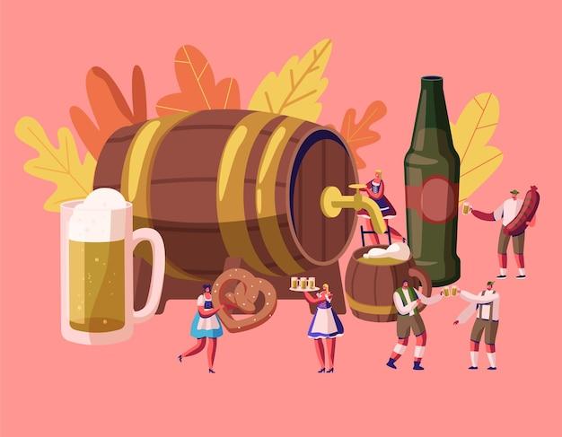 Concept de l'oktoberfest. illustration plate de dessin animé