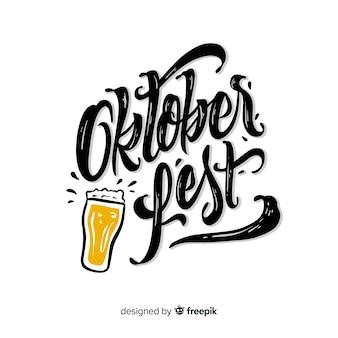 Concept oktoberfest avec lettrage de fond
