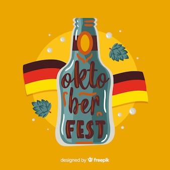Concept oktoberfest avec lettrage