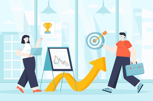 Concept d'opportunités de carrière dans l'illustration de conception plate de personnages de personnes pour la page de destination