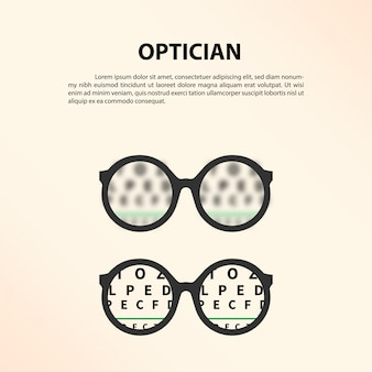 Concept d'opticien.