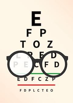 Concept d'opticien.