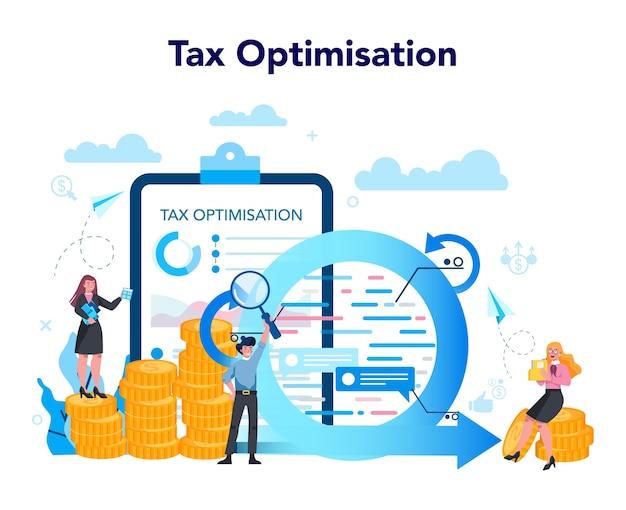Concept d'optimisation fiscale