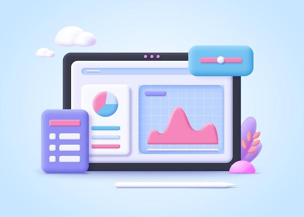 Concept d'optimisation des processus. amélioration des affaires, développement, planification de projet, travail d'équipe efficace. illustration vectorielle réaliste 3d.