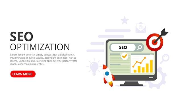 Concept d'optimisation seo. illustration vectorielle