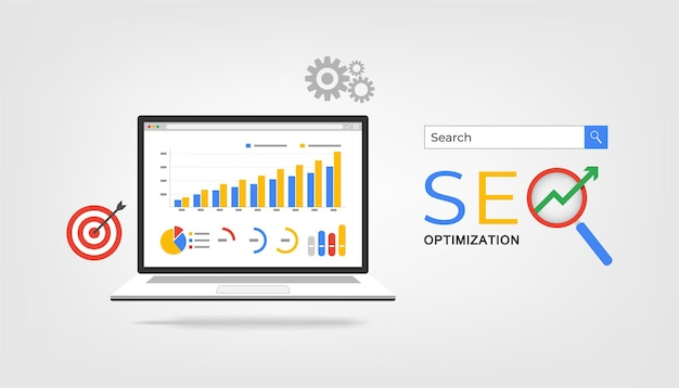 Concept d'optimisation seo.