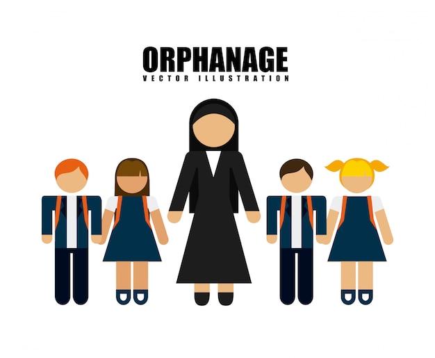 Concept d'orphelinat