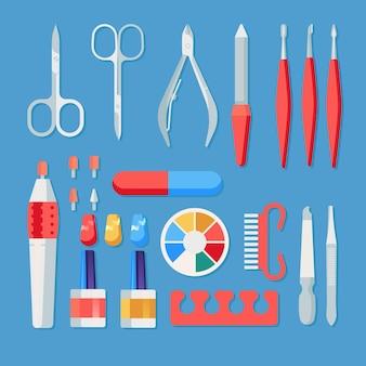 Concept d'outils de manucure