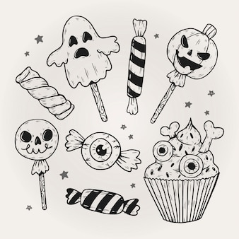 Concept de pack de bonbons halloween