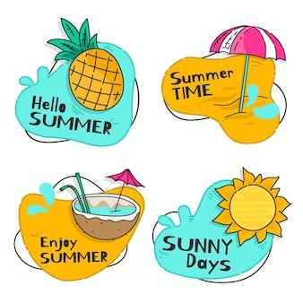 Concept de pack d'étiquettes d'été