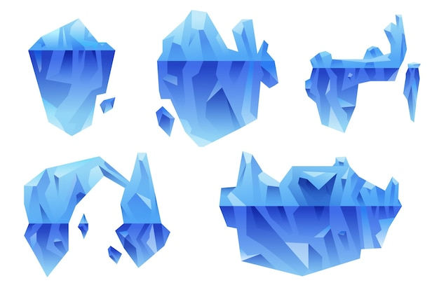 Concept de pack d'icebergs