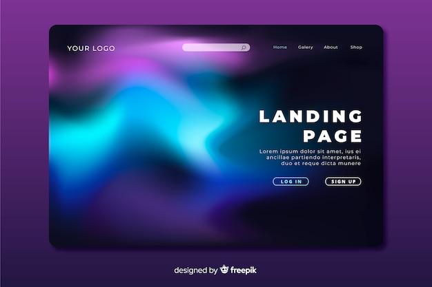 Concept de page d'atterrissage ciel nocturne coloré