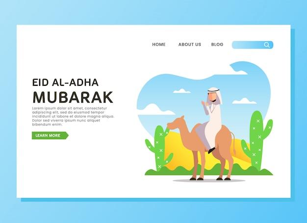 Concept de page d'atterrissage d'eid al adha