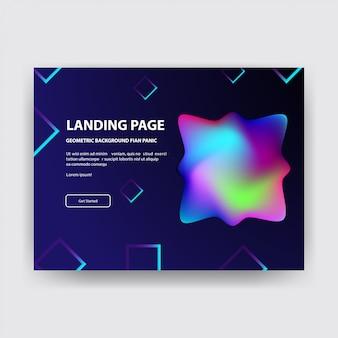 Concept de page d'atterrissage.