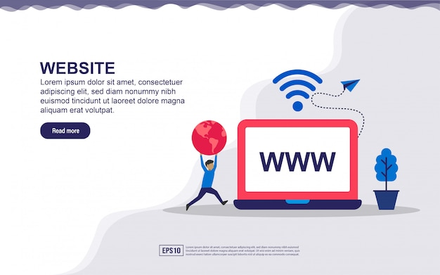 Concept de page de destination du site web