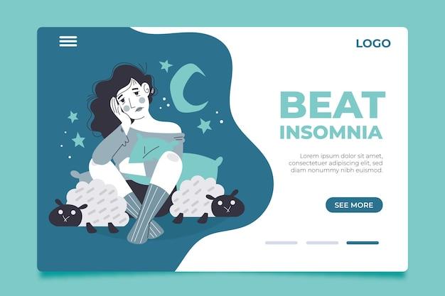 Concept de page de destination de l'insomnie