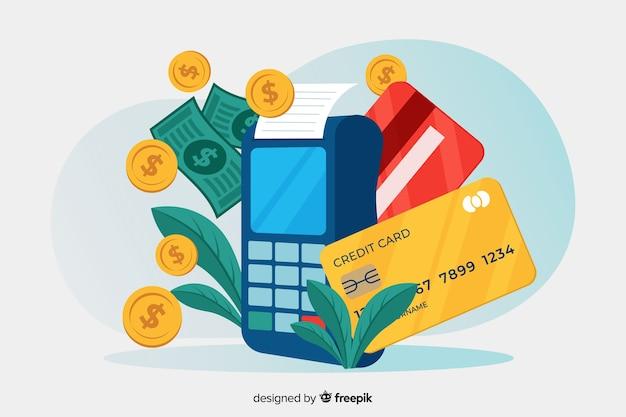 Concept de page de destination de paiement par carte de crédit