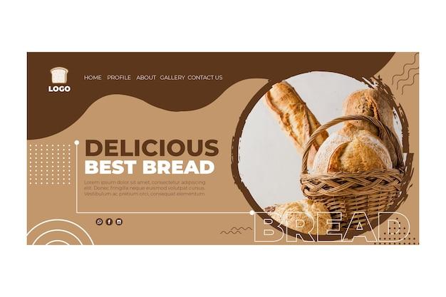 Concept de page de destination de pain