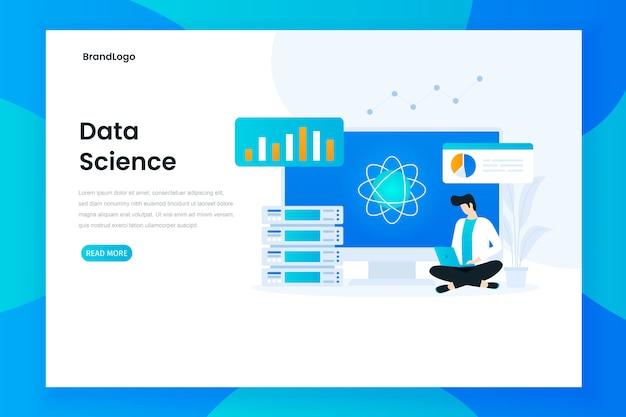 Concept de page de destination de science des données