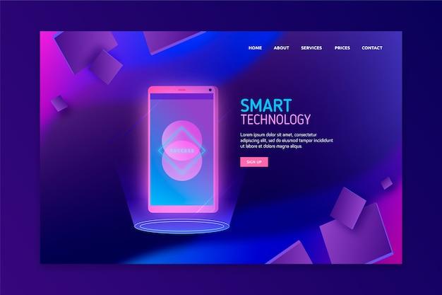 Concept de page de destination avec smartphone