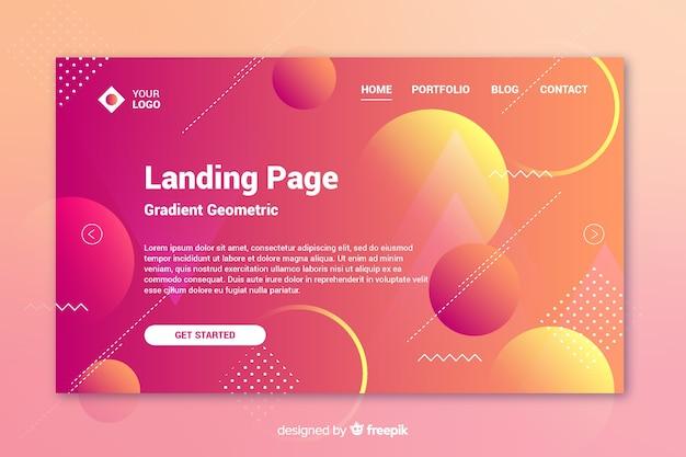 Concept de page de renvoi avec des formes géométriques