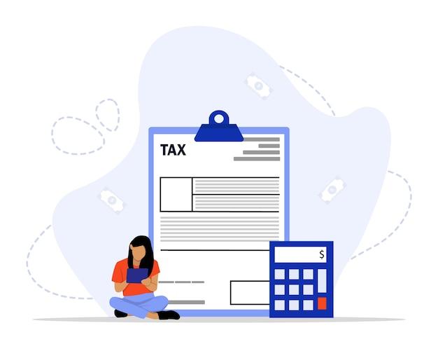 Concept de paiement d'impôt en ligne
