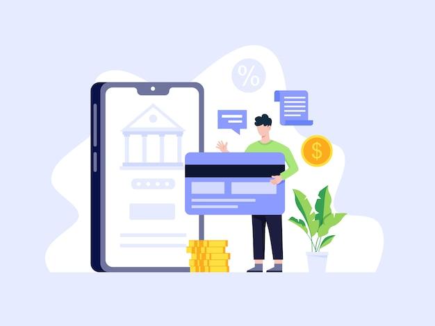 Concept de paiement en ligne et mobile