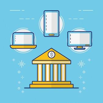Concept de paiement en ligne