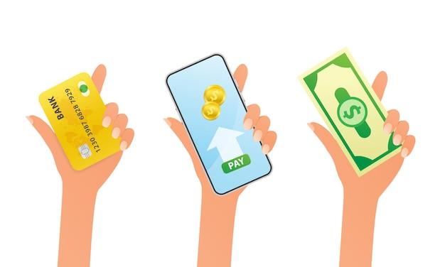Concept de paiement mode de paiement et possibilité de transférer de l'argent