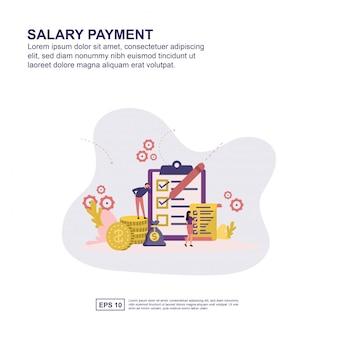 Concept de paiement de salaire